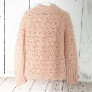 Loft • Open Knit Sweater with Iridescent Strands